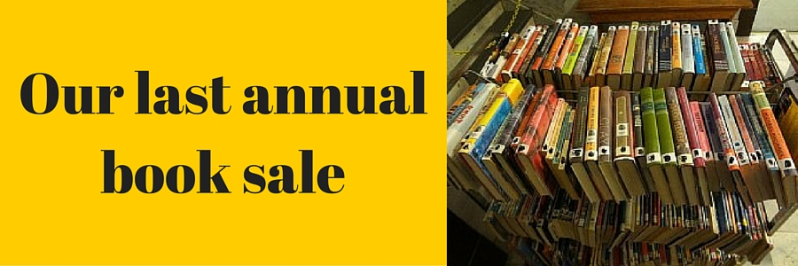 Our last annual book sale.