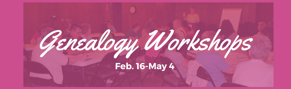 Free Genealogy Workshops Offered at the Library