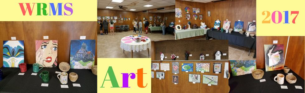 Will Rogers Middle School Art Show at the Library