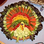Picture of turkey made out of vegetables