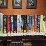Shelf of new books