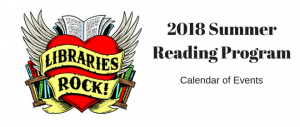 2018 Summer Reading Program Calendar