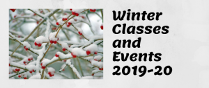 Winter Classes and Events 2019-20