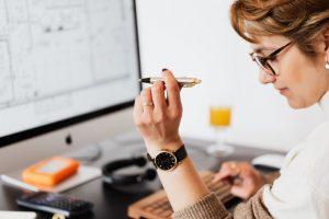 woman working on figures